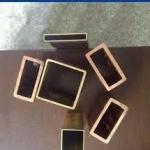 Tubos quadrados de cobre